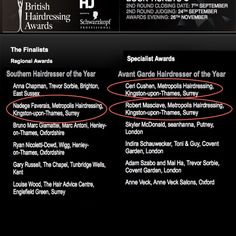 My team and i are finalists in the British hair awards! Check it out! I am soooo proud of the whole team! Thank you everyone for your support!! Fingers crossed now! :-)