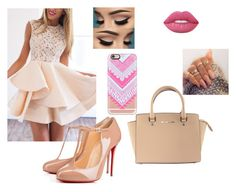"""""""Jayla"""" by manii13k on Polyvore featuring Michael Kors, Christian Louboutin, Casetify and Lime Crime"""