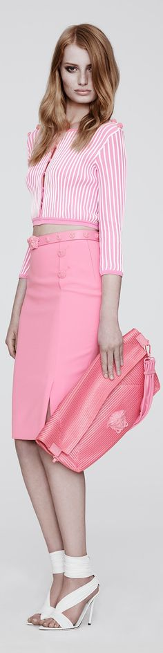 Versace Resort 2014 shows us Pretty In Pink for next Spring Season