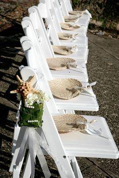 Abanicos boda al aire libre