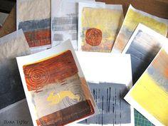 Velvet Moth Studio: WOYWW and Gelli Printing