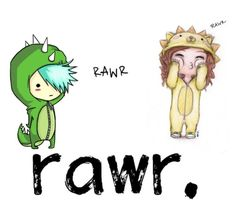 """Rawr means I love you in Dinosaur "" by jadenblanche02 ❤ liked on Polyvore featuring art"