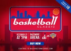 Wizards Splash Intro: Baltimore Classic | THE OFFICIAL SITE OF THE WASHINGTON WIZARDS