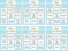 bingo para chá de bebê lista de presentes