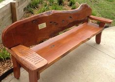 Leaving Present Seat with students names engraved Leaving Presents, Andrew Smith, Navy Blue Living Room, Outdoor Play, Outdoor Furniture, Outdoor Decor, Art Projects, Gallery, Wood Benches