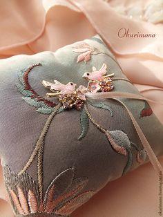 Злата.Комплект подушечка+подвязка - подушка,подушечка,подушечка для колец