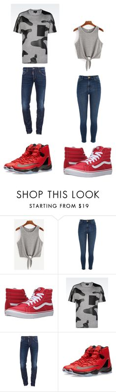 """""""Untitled #304"""" by kassidyrobinson on Polyvore featuring River Island, Vans, Emporio Armani, Dsquared2 and NIKE"""