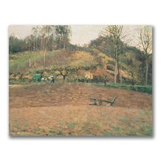 Ploughland by Camille Pissarro Painting Print on Wrapped Canvas