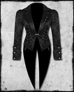 LIVING DEAD SOULS Flocked Corset Tailcoat Jacket