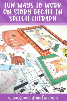 Fun Ways to Work on Story Recall in Speech Therapy