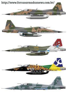Várias versões do F-5 Tiger