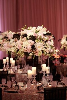 wedding table decorations:  How sparkly is that!  Love it.