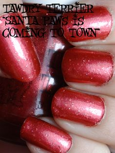 "@TawdryTerrier ""Santa Paws is Coming to Town"" in the shade - available at https://www.etsy.com/shop/TawdryTerrier #nailpolish #indienailpolish #christmas #tawdryterrier@TawdryTerrier ""Santa Paws is Coming to Town"" in the sun - available at https://www.etsy.com/shop/TawdryTerrier #nailpolish #indienailpolish #christmas #tawdryterrier"