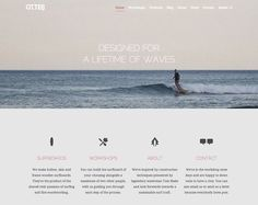 otter surfboards // 21 Clean Web Design Layouts