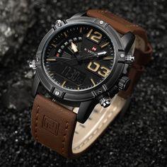 Men's Fashion Sport Watches Men Quartz Analog Date Clock Man Leather Military Waterproof Watch Relogio Masculino Mens Sport Watches, Mens Watches Leather, Men's Accessories, Tactical Accessories, Cool Watches, Watches For Men, Men's Watches, Luxury Watches, Fashion Watches
