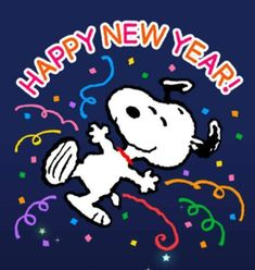 Happy New Year! Charlie Brown Dance, Snoopy New Year, Snoopy Pictures, Best Seasons, Peanuts Gang, Just For Fun, Happy New Year, Christmas, Fictional Characters