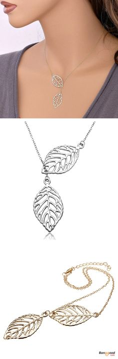 US$3.24 + Free shipping. Material: Alloy. Fall in love with bohemian and trendy style! Vintage Gold Silver Big Leaf Pendant Clavicle Chain Necklace For Women. Necklace, Necklace And Bracelet, Necklace Chain, Necklaces For women.