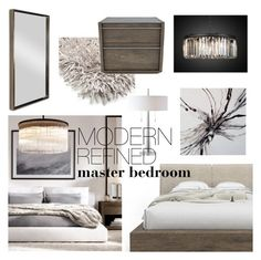 """""""Modern & Refined Master Bedroom"""" by emmy ❤ liked on Polyvore featuring interior, interiors, interior design, home, home decor, interior decorating, Huppé, Renwil, bedroom and modern"""