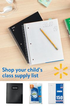 "Make sure your kids are set up for success this school year with back to school basics from Walmart. From pens and pencils to notebooks, backpacks, snacks and so much more - we've got you covered! Your teacher's school supplies list is shoppable at Walmart.com/mysupplies. Select ""add all items"" and ship them home."