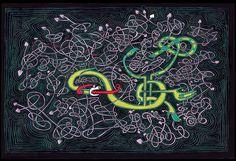 Irish Art Celtic Art Mandala Trippy Art by CelticMandala on Etsy