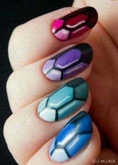 Steven Universe(?) Nails!!!!! :D