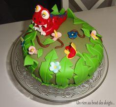 Gâteau dinosaure pour les 2 ans de Rafael