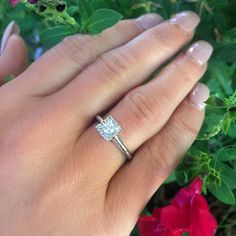 1950s Vintage 14K White Gold Illusion Setting Diamond Ring, .21ct (only $595!)