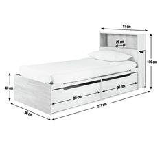 Buy Argos Home Lloyd Oak Effect Cabin Bed, Headboard & Storage | Kids beds | Argos