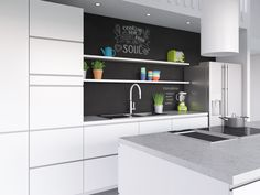 keittiö musta seinä - Google Search