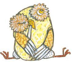 yellow owl by Selda Marlin Sogancis