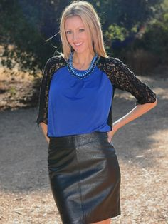 The Stylish Housewife scored this leather skirt at her local Nordstrom Rack!