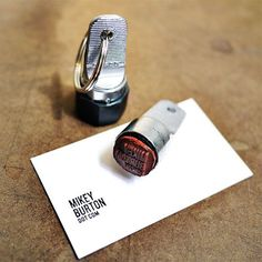 portable rubber stamp for instant business cards + signs