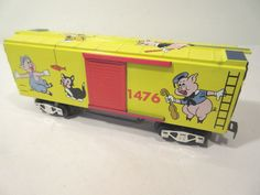 MARX TRAINS DISNEY MICKEY MOUSE BOXCAR SAMPLE O-GAUGE #X8237 Toy Trains, Model Trains, Boxcar, Rolling Stock, Disney Mickey Mouse, Gauges, Toy Chest, Scenery, Scale