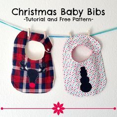 Two patterns for a Christmas baby bib. One snowman and one is the cutest reindeer! You can also applique these on to an existing bib for Christmas.