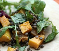 Wonderful roasted squash and lentil salad from Dana Treat's blog