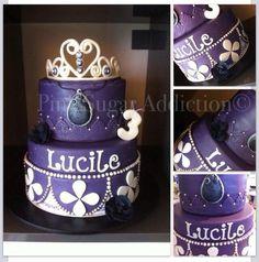 Princesse Sofia pour la petite Lucile, un de mes premiers gâteaux!