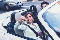 wedding car, wedding day, bride