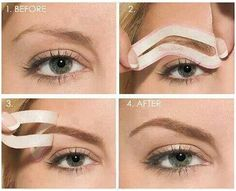 This is the cheaters way to perfect eyebrows; right up my alley! Try out eyebrow stencils and check out the tutorial to see how!