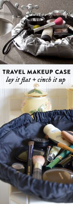 Looking for a travel makeup case? This is a smart, convenient solution for corralling cosmetics. When you're on the go, it makes storage a cinch.