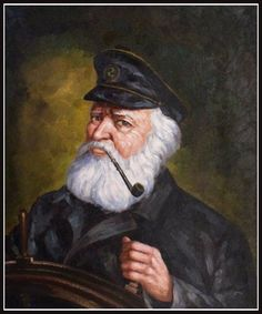 Grey Charater Beard /& Moustache Naval Nordic Captain Sea Dog Old Wise Man