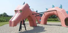 Imaginative Playgrounds - Danish firm Monstrum was founded by Ole B. Nielsen and Christian Jensen and creates fun playgrounds for kids.   - Dragon