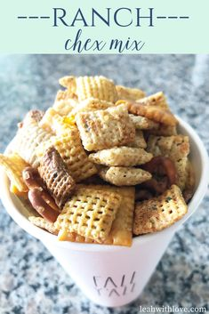This ranch chex mix is filled with flavor. You won't be able to stop snacking. Friends and family will be asking for more.
