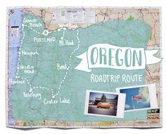 Oregon Road Trip Route auf Smarachuja