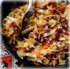 The English Kitchen: Fried Cabbage with Bacon & Onions