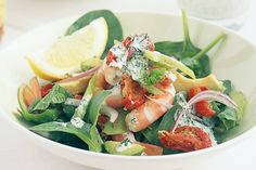 If it's hot where you are tonight - and chances are it is - then try this simple prawn salad - no cooking required!