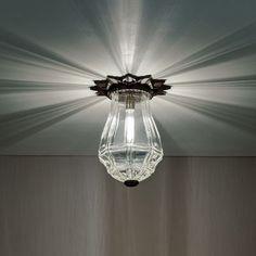 Opera House glitch mount light by Boyd Lighting (love this) Luxury Lighting, Home Lighting, Lighting Ideas, Ceiling Light Fittings, Ceiling Lights, Starburst Light, Mid Century Modern Lighting, Metal Canopy, Hallway Lighting