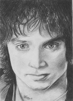 Frodo of The Lord of The Rings by CaseyJRhodesArt on Etsy, $35.00