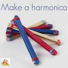 make a lolly stick harmonica