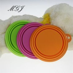 Pet Portable Silicone Dog Folding Drinking Feeding Bowl Outdoor Puppy Cat Food Water Feeder Container Pet Supplies