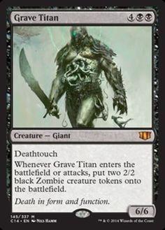 Grave-Titan-x4-Magic-the-Gathering-4x-Commander-2014-mtg-card-mythic-rare-black
